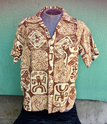 Vintage 60s Cabana Boy Men's Hawaiian Tiki Lounge Hepcat Shirt L