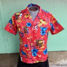 Vintage Men's Hawaiian Tropical Tiki Lounge Shirt SZ M/15 1/2