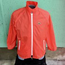Vintage 70s ALLIGATOR LACOSTE Red Sporty Mens Old School Nylon Windbreaker Jacket Sz L