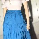 Vintage 70s Cornflower Blue Pleated Skirt SZ 9/10 M/L