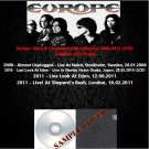 Europe - Rare & Unreleased Live Collection 2008-2011 (5CD)