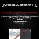 Megadeth - Album Rare & Limited Edition 2012-2016 (6CD)