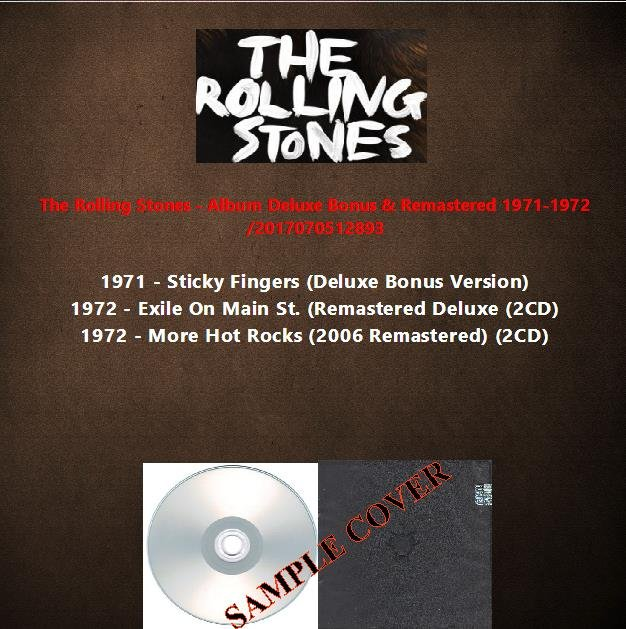 The Rolling Stones - Album Deluxe Bonus & Remastered 1971-1972 (5CD)