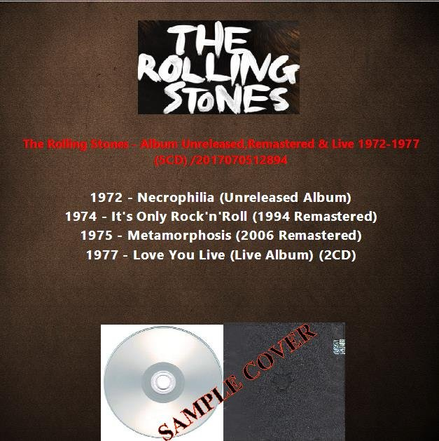 The Rolling Stones - Album Unreleased,Remastered & Live 1972-1977 (5CD)
