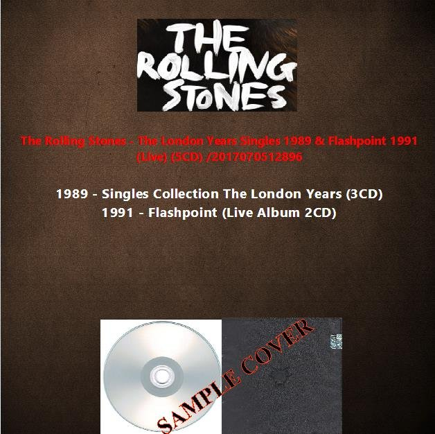 The Rolling Stones - The London Years Singles 1989 & Flashpoint 1991 (Live) (5CD)