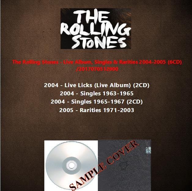The Rolling Stones - Live Album, Singles & Rarities 2004-2005 (6CD)