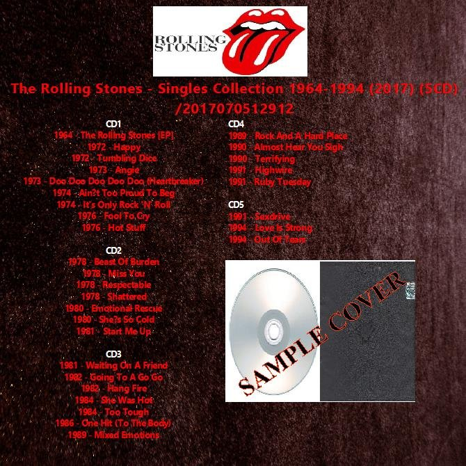 The Rolling Stones - Singles Collection 1964-1994 (2017) (5CD)