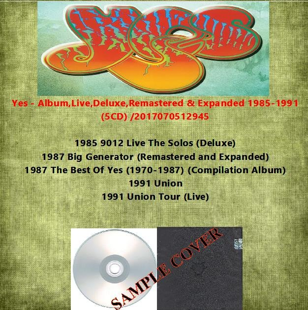 Yes - Album,Live,Deluxe,Remastered & Expanded 1985-1991 (5CD)