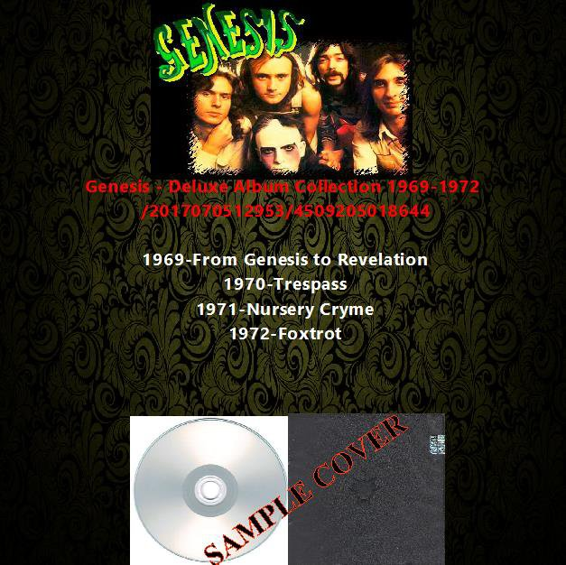 Genesis - Deluxe Album Collection 1969-1972 (4CD)