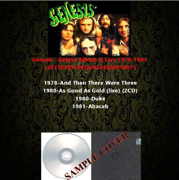 Genesis - Deluxe Album & Live 1978-1981 (5CD)
