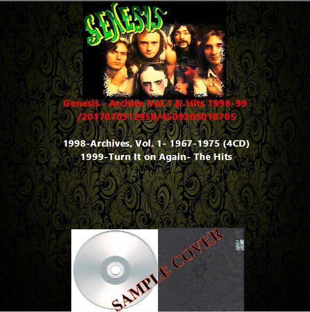 Genesis - Archive Vol.1 & Hits 1998-99 (5CD)