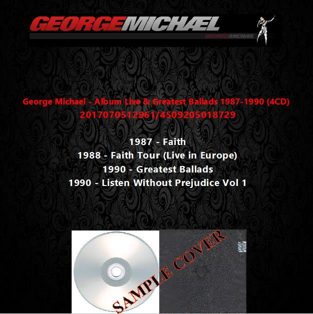 George Michael - Album Live & Greatest Ballads 1987-1990 (4CD)