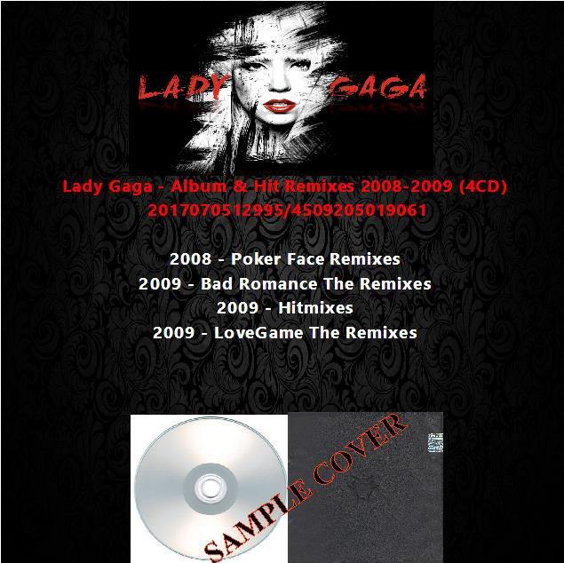 Lady Gaga - Album & Hit Remixes 2008-2009 (4CD)