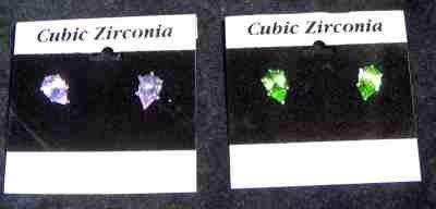 beautiful earrings of cubic zirconia