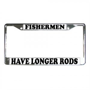 FISHERMAN License Plate Frame Vehicle Heavy Duty Metal 12467263