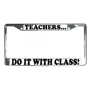 TEACHER License Plate Frame Vehicle Heavy Duty Metal  13285826