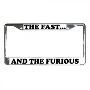 THE FAST AND THE FURIOUS License Plate Frame Vehicle Heavy Duty Metal 13310000