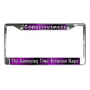 CONSCIOUSNESS License Plate Frame Vehicle Heavy Duty Metal 17996602