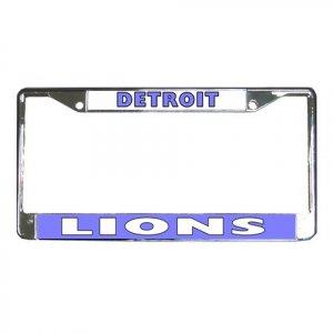 DETROIT LIONS License Plate Frame Vehicle Heavy Duty Metal 18591453