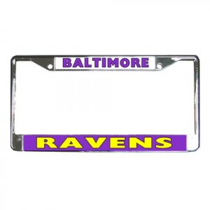 BALTIMORE RAVENS License Plate Frame Vehicle Heavy Duty Metal 18592399