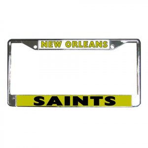 NEW ORLEAN SAINTS License Plate Frame Vehicle Heavy Duty Metal 18592662