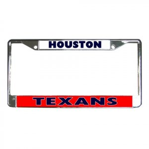 HOUSTON TEXANS License Plate Frame Vehicle Heavy Duty Metal 18592899