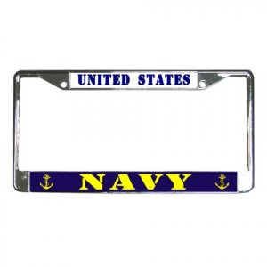 US NAVY License Plate Frame Vehicle Heavy Duty Metal 18600050