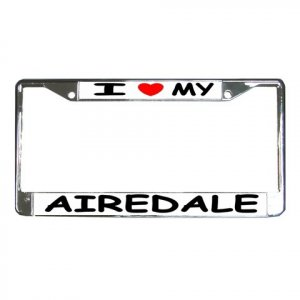 AIREDALE  DOG License Plate Frame Vehicle Heavy Duty Metal 12104261