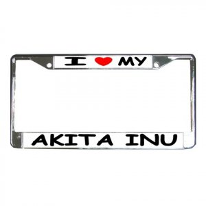 AKITA  DOG License Plate Frame Vehicle Heavy Duty Metal 12104290