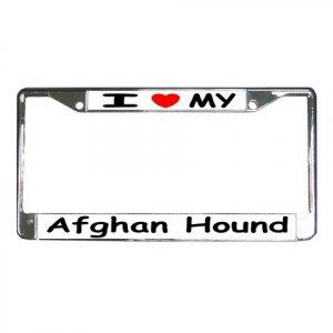 AFGHAN HOUND DOG License Plate Frame Vehicle Heavy Duty Metal 12148757