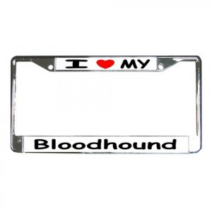 BLOODHOUND DOG License Plate Frame Vehicle Heavy Duty Metal 12148762