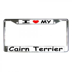CAIRN TERRIER DOG License Plate Frame Vehicle Heavy Duty Metal 12239532