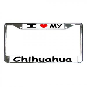CHIHUAHUA DOG License Plate Frame Vehicle Heavy Duty Metal 12239537