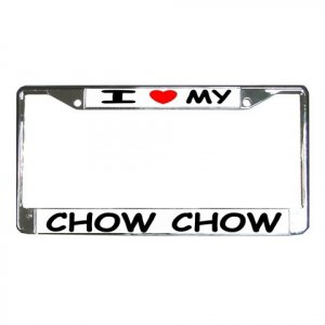 CHOW CHOW  DOG License Plate Frame Vehicle Heavy Duty Metal 12239541