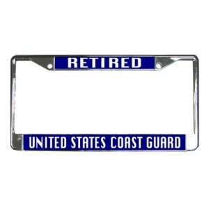 RETIRED US COAST GUARD License Plate Frame Vehicle Heavy Duty Metal 27633780