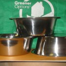 Bowl, STAINLESS STEEL, 1 PINT, Pet, Soup, Food Prep, Mixing, Flower