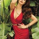 Sexy Summer Red Women Beach Bold Little Sleeveless Deep-V Short Dress W208008