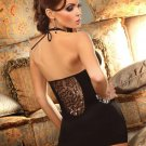 Sexy Lady Black V-neck Sheer Sleeveless Bodycon Backless Summer Dress W208005