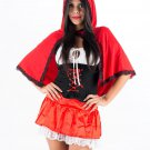 Storybook Sexy Fairy Tale Little Red Riding Hood Costumes Adult Fancy Dress Costumes W208957B