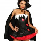 Evil Woman Cosplay Blood Bite Me Vampire Halloween Costume 7039