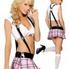 Hot sale Sexy Adult 3Pcs School Girl Costume Women cosplay costume W412253