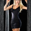 Black Sleeveless V-neck Sexy Racer Back Criss Cross Mini Dress W14015