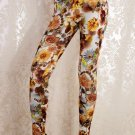 Women Mid Waist Sexy Romantic Yellow Rose Manor Leggings Ankle-Length Print Leggings wl041