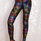 Women Mid Waist Sexy Patchwork Print Leggings Pants K215
