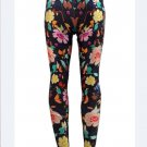 Women Mid Waist Pants Sexy Flowers Legings Ankle-Length Print Legings wl069