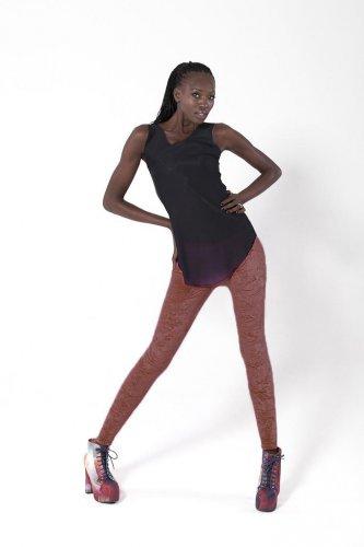 Brown Mid Waist Lady Pants Beauty Solid Cute Velvet Winter Leggings wl8320