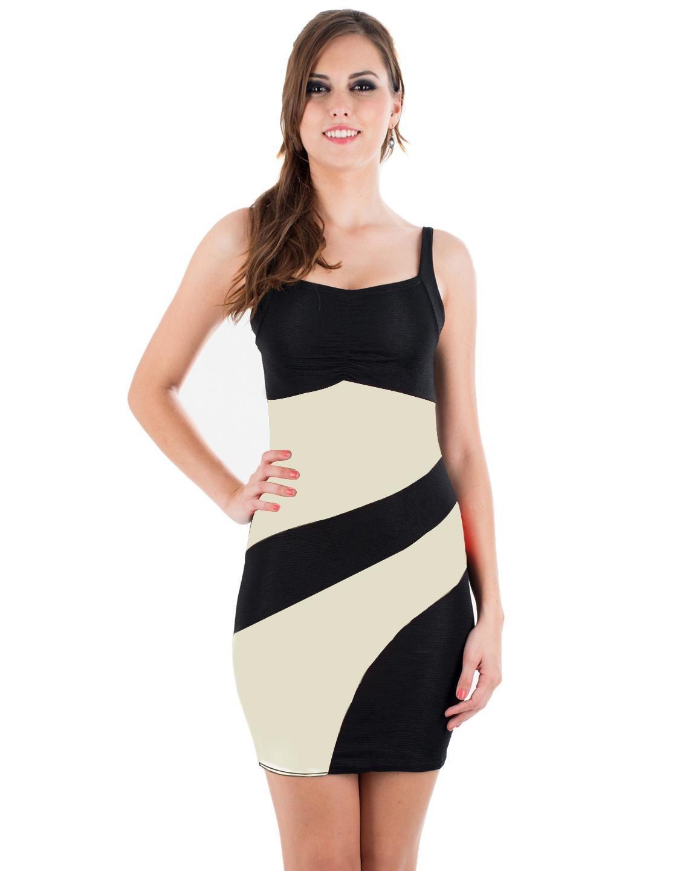 Spaghetti Strap Black and White Sexy dress women K028C
