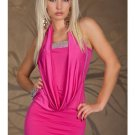 Pink Popular Halter Fashion Dress Off-shoulder Sexy Splicing Sequin Mini Dress W203418