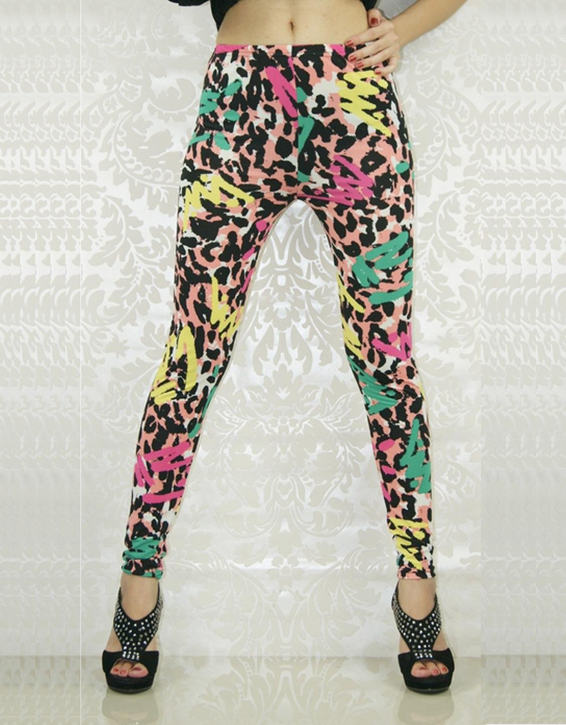 Fashion Colorful Sexy Mid Waist Stylish Bright Color Woman Leggings WL8038