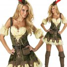 Fashion Female THIEF ROBIN HOOD MOVIE FANCY DRESS COSTUME OUTFIT W418303